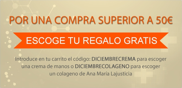 Durante el mes de Diciembre exige uno de nuestros productos totalmente gratuitos por una compra superior a 50€