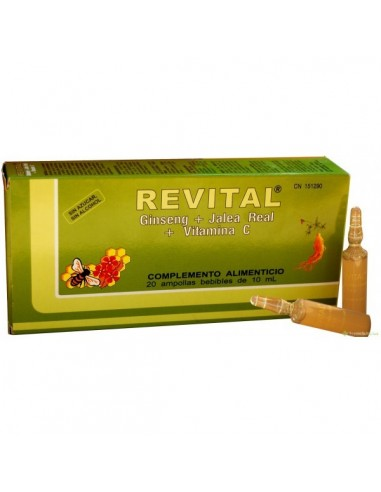 REVITAL GINSENG + JALEA 20 viales