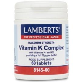 Imagen de producto relacionado: VITAMINA K 60 TABL. LAMBERTS