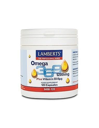 Omega 3,6,9 + Vitamina D (5µg) 120 cápsulas