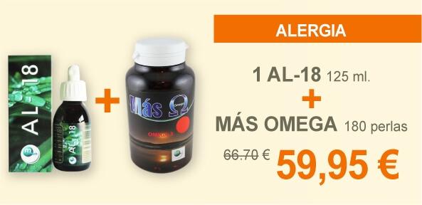 1 AL-18 125 ml + MÁS OMEGA 180 perlas