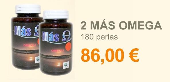 2 Más Omega 180 perlas
